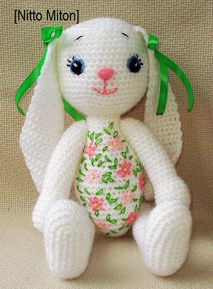 Вязание игрушек заяц